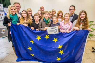 18.11.2016 , MO Moers KL KaLi Kamp Lintfort , Europaschule an der Sudermannstraße 4 erhält Zertifizierung zur Europaschule NRW.